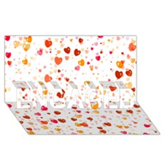 Heart 2014 0604 Engaged 3d Greeting Card (8x4)  by JAMFoto