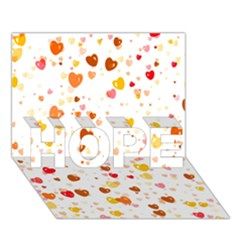 Heart 2014 0605 Hope 3d Greeting Card (7x5)  by JAMFoto