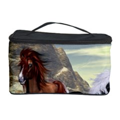 Beautiful Horses Running In A River Cosmetic Storage Cases by FantasyWorld7