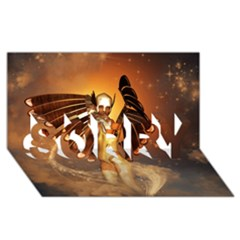 Beautiful Angel In The Sky Sorry 3d Greeting Card (8x4)