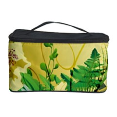 Wonderful Soft Yellow Flowers With Leaves Cosmetic Storage Cases by FantasyWorld7
