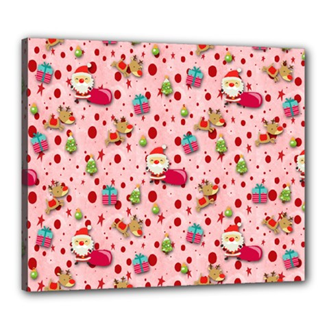 Red Christmas Pattern Canvas 24  X 20  by KirstenStar