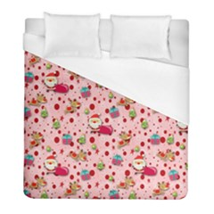 Red Christmas Pattern Duvet Cover Single Side (twin Size) by KirstenStar