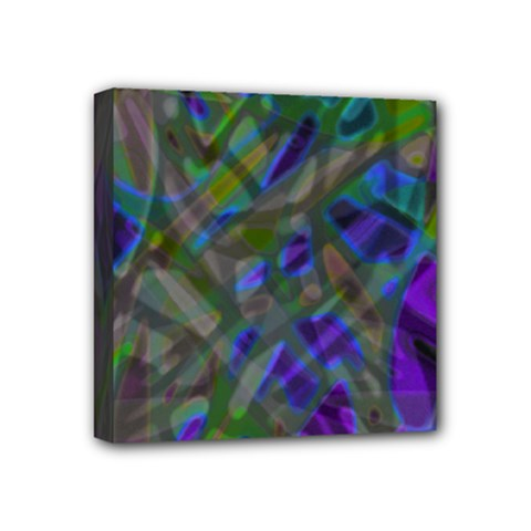 Colorful Abstract Stained Glass G301 Mini Canvas 4  X 4  by MedusArt