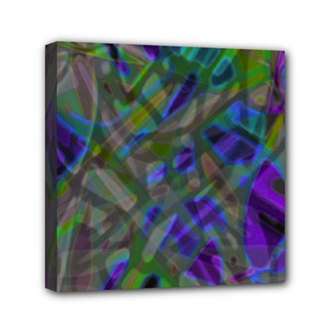 Colorful Abstract Stained Glass G301 Mini Canvas 6  X 6  by MedusArt