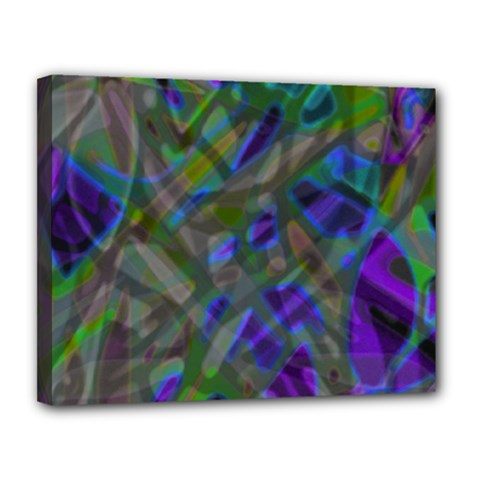 Colorful Abstract Stained Glass G301 Canvas 14  X 11  by MedusArt