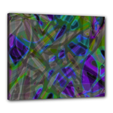 Colorful Abstract Stained Glass G301 Canvas 24  X 20  by MedusArt