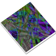 Colorful Abstract Stained Glass G301 Small Memo Pads by MedusArt