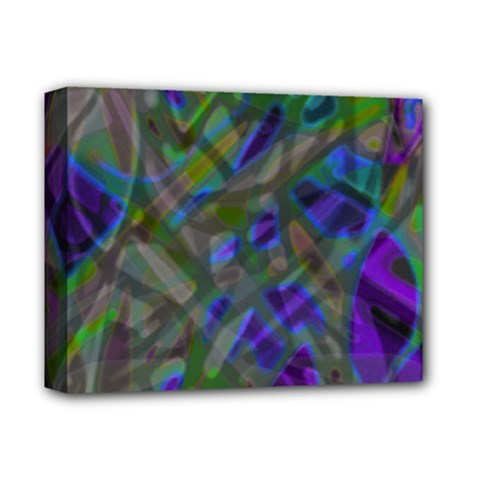 Colorful Abstract Stained Glass G301 Deluxe Canvas 14  X 11  by MedusArt
