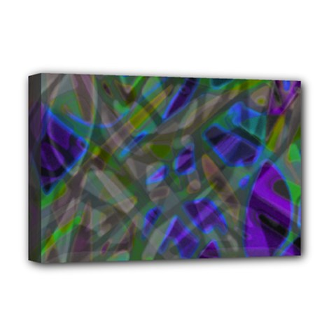 Colorful Abstract Stained Glass G301 Deluxe Canvas 18  X 12   by MedusArt