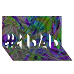 Colorful Abstract Stained Glass G301 #1 Dad 3d Greeting Card (8x4)  by MedusArt