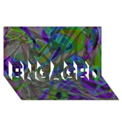 Colorful Abstract Stained Glass G301 Engaged 3d Greeting Card (8x4)