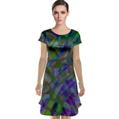 Colorful Abstract Stained Glass G301 Cap Sleeve Nightdresses by MedusArt