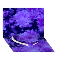 Phenomenal Blossoms Blue Heart Bottom 3d Greeting Card (7x5)