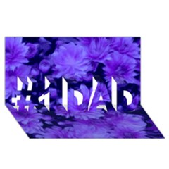 Phenomenal Blossoms Blue #1 Dad 3d Greeting Card (8x4)