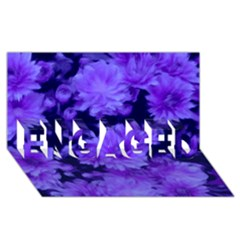 Phenomenal Blossoms Blue Engaged 3d Greeting Card (8x4)