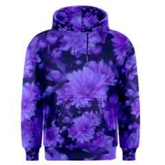 Phenomenal Blossoms Blue Men s Pullover Hoodies