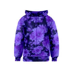 Phenomenal Blossoms Blue Kids Zipper Hoodies
