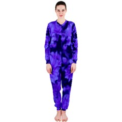 Phenomenal Blossoms Blue Onepiece Jumpsuit (ladies)