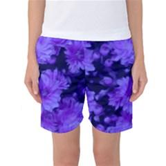 Phenomenal Blossoms Blue Women s Basketball Shorts