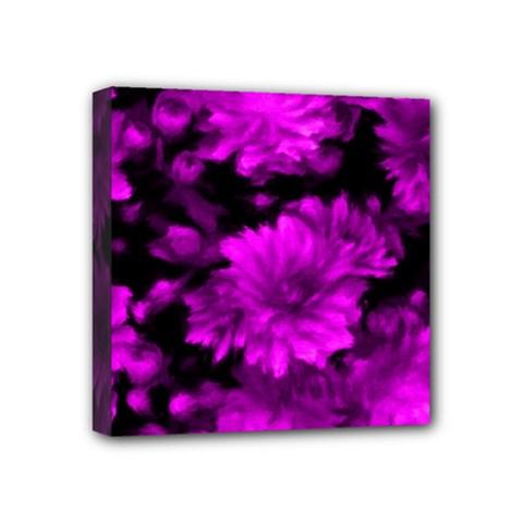 Phenomenal Blossoms Hot  Pink Mini Canvas 4  X 4