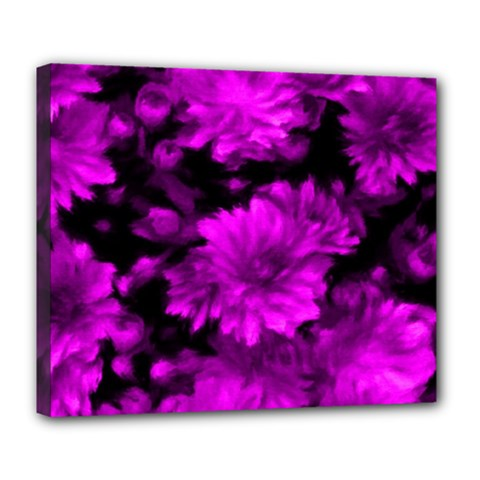 Phenomenal Blossoms Hot  Pink Deluxe Canvas 24  X 20