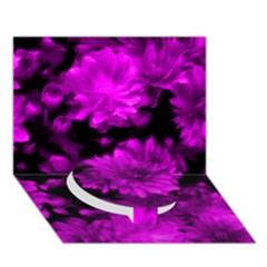 Phenomenal Blossoms Hot  Pink Circle Bottom 3d Greeting Card (7x5)
