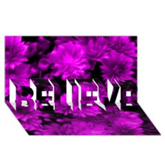 Phenomenal Blossoms Hot  Pink Believe 3d Greeting Card (8x4)