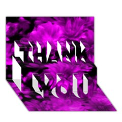 Phenomenal Blossoms Hot  Pink Thank You 3d Greeting Card (7x5)