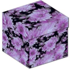 Phenomenal Blossoms Lilac Storage Stool 12