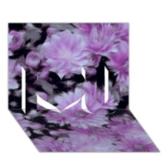 Phenomenal Blossoms Lilac I Love You 3d Greeting Card (7x5)  by MoreColorsinLife