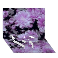 Phenomenal Blossoms Lilac Love Bottom 3d Greeting Card (7x5)
