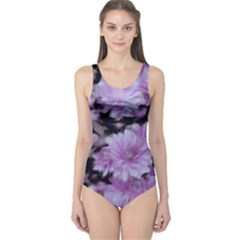 Phenomenal Blossoms Lilac Women s One Piece Swimsuits