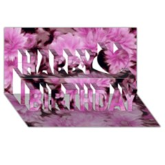 Phenomenal Blossoms Pink Happy Birthday 3d Greeting Card (8x4)