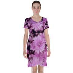 Phenomenal Blossoms Pink Short Sleeve Nightdresses