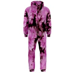 Phenomenal Blossoms Pink Hooded Jumpsuit (men)