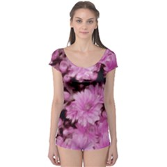 Phenomenal Blossoms Pink Short Sleeve Leotard