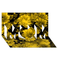 Phenomenal Blossoms Yellow Mom 3d Greeting Card (8x4)