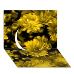 Phenomenal Blossoms Yellow Circle 3d Greeting Card (7x5)