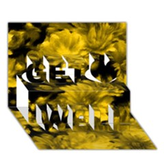 Phenomenal Blossoms Yellow Get Well 3d Greeting Card (7x5)