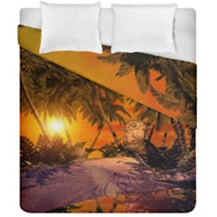 Wonderful Sunset In  A Fantasy World Duvet Cover (double Size) by FantasyWorld7