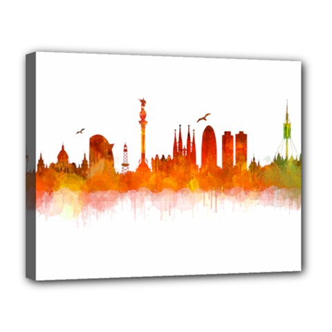 Barcelona 02 Canvas 14  X 11  by hqphoto