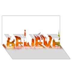 Barcelona 02 Believe 3d Greeting Card (8x4)