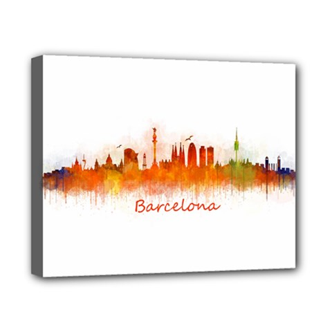 Barcelona City Art Canvas 10  X 8  by hqphoto