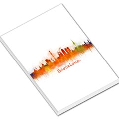 Barcelona City Art Large Memo Pads by hqphoto