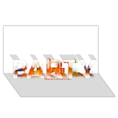 Barcelona City Art Party 3d Greeting Card (8x4)  by hqphoto
