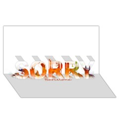 Barcelona City Art Sorry 3d Greeting Card (8x4)  by hqphoto