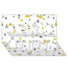 Pastel Random Triangles Modern Pattern Best Friends 3d Greeting Card (8x4)