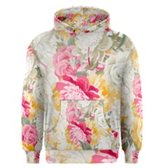 Colorful Floral Collage Men s Pullover Hoodies by Dushan