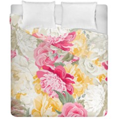 Colorful Floral Collage Duvet Cover (double Size) by Dushan